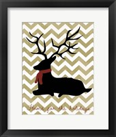 Framed Deer - Home For the Holidays