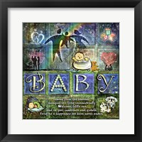 Framed Welcome Baby Boy