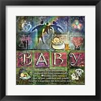 Framed Welcome Baby Girl