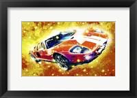 Framed Classic Car Ford GT V