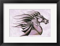 Framed Horse Elegance XV