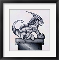 Framed Lion Gargoyle XVI