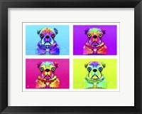 Framed Pug Psychodelic Poster XXXII