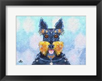 Framed Scottie Dog LI