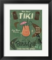Framed Tiki Bar & Grill B