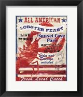 Framed All American Lobster