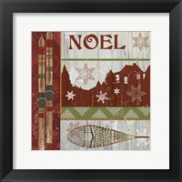 Framed Lodge Greetings Noel