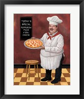 Framed Pizza Chef Master