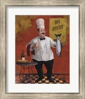 Framed Chef Fish Master