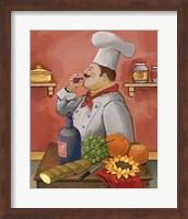 Framed Wine Chef Master