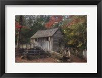 Framed Cades Cove Grist Mill