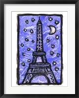 Framed Eiffel Tower Moon
