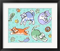 Framed Fun Kitties Pawprints