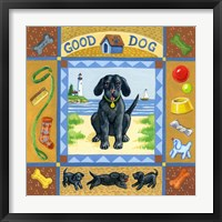 Framed Good Dog Black Lab
