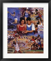 Track & Field Framed Print