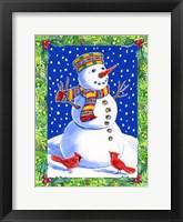 Framed Joyful Snowman