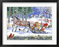 Framed Santa's Sleigh Ride