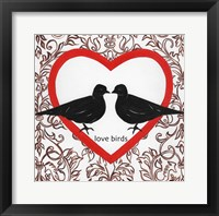 Framed Love Birds Valetines