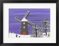 Framed Winter Windmill