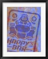 Framed Happy Bar