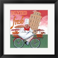 Framed Bike Chef Pisa Green
