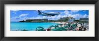 Framed Happy Landings on St. Maarten