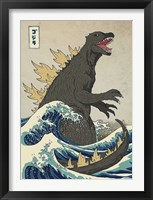 Framed Great Monster off Kanagawa