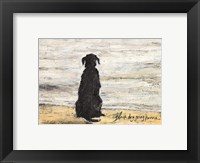 Framed Black Dog Going Home