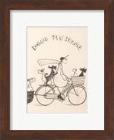 Framed Doggie Taxi
