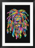 Framed Lion Rasta