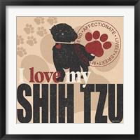 Framed Shih Tzu