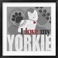 Framed Yorkie