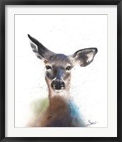Framed Deer Watercolor