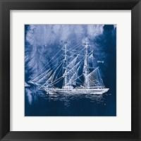 Framed Sailing Ships IV Indigo
