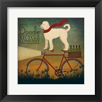 Framed White Doodle on Bike Summer