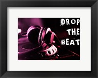 Framed Drop The Beat  - Magenta and Red