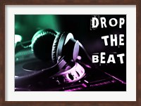 Framed Drop The Beat - Green and Pink