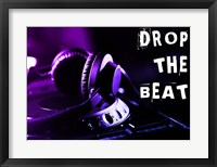Framed Drop The Beat - Purple and Blue