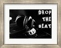 Framed Drop The Beat - Black and White