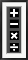 Framed Math Symbols Wall Scroll - Black