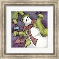 Framed Snowman II