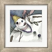 Framed Snowman III