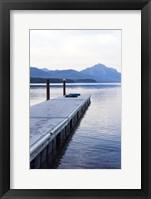 Framed Lake McDonald Pier