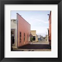 Framed Fort Bragg Alleyway