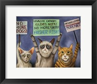Framed Cats On Strike