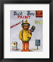 Framed Duck Boy 1