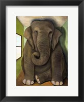 Framed Elephant In A Room Cracks