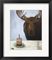 Framed Chocolate Moose