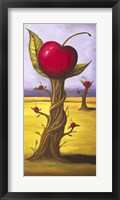 Framed Surreal Cherry Tree