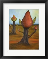 Framed Surreal Pear Trees 4